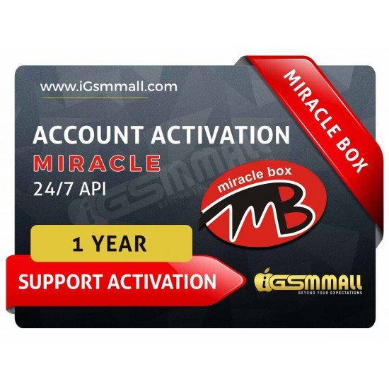 Miracle 1 Year Support Activation (Bundle pack)