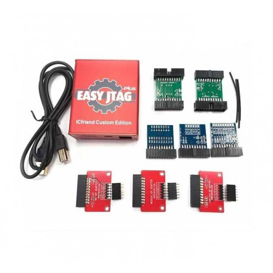 EASY JTAG PLUS BOX RED EDITION WITH 8 ISP ADAPTOR SET