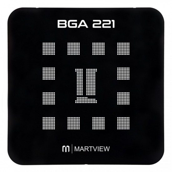 Martview RB-01 Reballing Stencil Tin Net Full Set for EMMC/EMCP/UFS BGA153/162/169/186/221/254 With Fixed Plate and Holder
