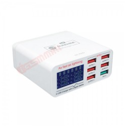 SUNSHINE SS-304Q 6 PORT USB SMART LIGHTNING CHARGER